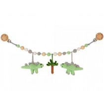 Sindibaba Stroller Chain DINOSAURS green