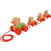 Pull-along toy DUCK FAMILY