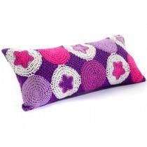 Smallstuff crochet cushion purple