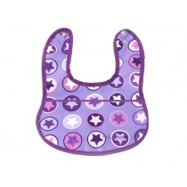 Smallstuff Small Bib STARS purple
