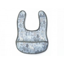 Smallstuff Small Bib ANIMALS blue