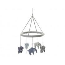 Smallstuff Mobile ELEPHANTS grey blue
