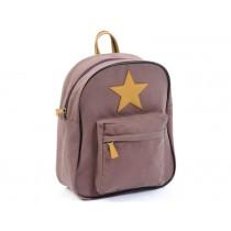 Smallstuff backpack dark rose leather star large