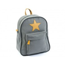Smallstuff backpack dark grey leather star large