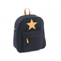 Smallstuff backpack black leather star large