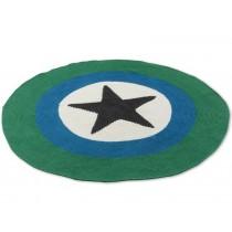 Smallstuff carpet dark grey star