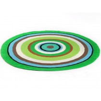 Round Smallstuff carpet with colourful stripes