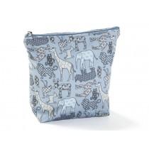 Smallstuff Toilet Bag - denim animals