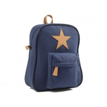 Smallstuff backpack navy leather star