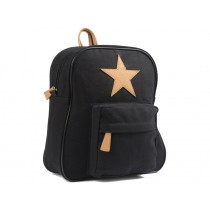 Smallstuff backpack black leather star