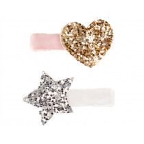Souza 2 Hair Clips INDRES Heart & Star pink