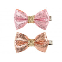 Souza 2 Bow Hair Clips AMELIA pink