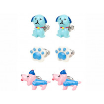 Souza 3 Pairs Earring Set DOGS