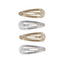 Souza 4 Hair Clips IRENE Glitter gold