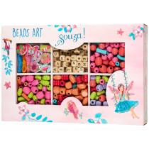 Souza Bead Kit ALPHABET JUNGLE Pink