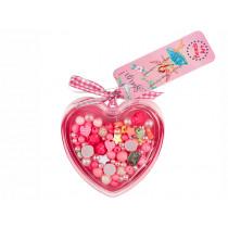 Souza Heart Bead Kit DARLENE Pink