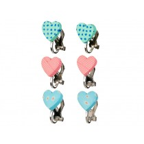Souza Ear Clips HEARTS mint