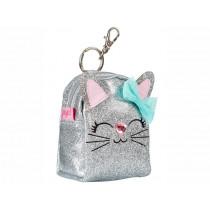 Souza Keychain Coin Purse CAT silver