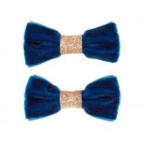 Souza 2 Bow Hair Clips CYNTHIA dark blue