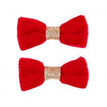 Souza 2 Bow Hair Clips CYNTHIA red