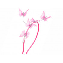 Souza Alice Hair Band NICKY Pink Butterflies