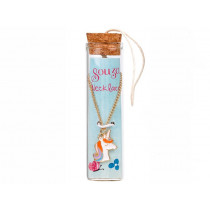 Souza Charm Necklace in Bottle UNICORN