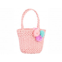 Souza Raffia Bag for Kids EVIE pink