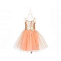Souza Costume Ball Gown GISELLE apricot 8-10 yrs