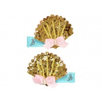 Souza Hair Clips SEA SHELL gold