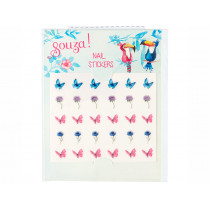 Souza Nail Stickers FLOWERS & BUTTERFLIES pink