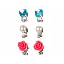 Souza Clip On Earring Set HILA pink & blue