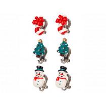 Souza Ear Clips CHRISTMAS Snowman