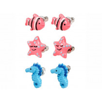 Souza ear stud set SEA CREATURES