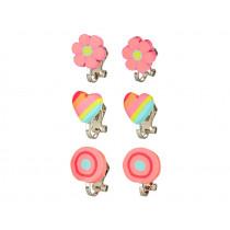 Souza Clip On Earring Set MIRANDA pink