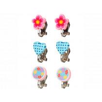 Souza Clip On Earrings MARLENE Hearts & Flowers
