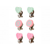 Souza Clip On Earrings LORENE Hearts
