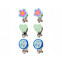 Souza Ear Clips HEARTS, FLOWERS and BUTTERFLIES