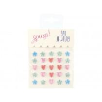 Souza Ear Clip Stickers HEARTS & FLOWERS