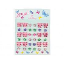 Souza Ear Stickers BUTTERFLIES & FLOWERS