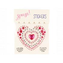 Souza Jewel Sticker HEART pink