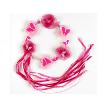Souza Hair Chaplet BUTTERFLY pink