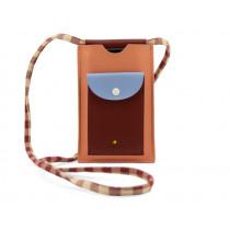 Sticky Lemon XL Phone Pouch GINGHAM Cherry Red & Berry Swirl