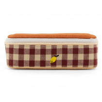 Sticky Lemon Pencil Case GINGHAM SPECIAL Grape & Willow Brown
