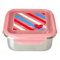 RICE Lunchbox stainless steel CANDY STRIPES