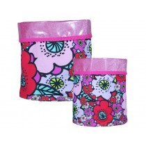 Supersoso Storage basket set FLOWERS