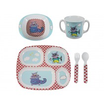 Supersoso melamine tableware set Crazy Cat