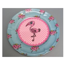 Supersoso Plate medium FLAMINGO turquoise
