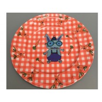 Supersoso Plate medium BUNNY red