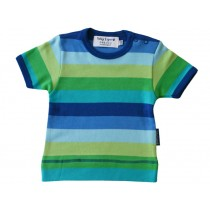 Toby Tiger short-sleeved T-Shirt with blue stripes