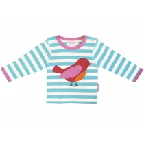 Toby Tiger long-sleeved T-Shirt with bird